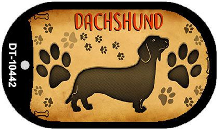 Dachshund Wholesale Novelty Metal Dog Tag Necklace DT-10442