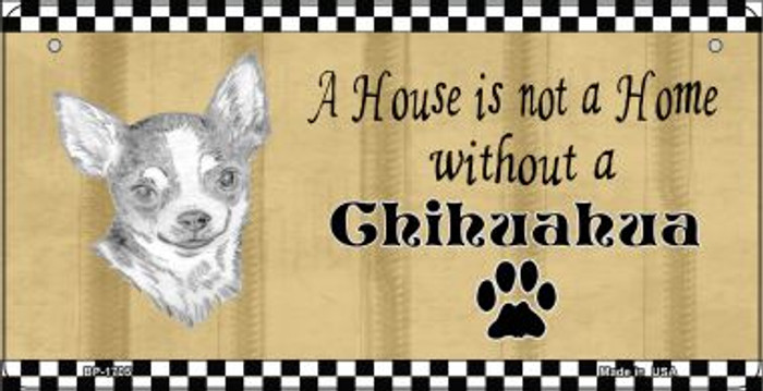 Chihuahua Pencil Sketch Wholesale Novelty Metal Bicycle Plate BP-1705