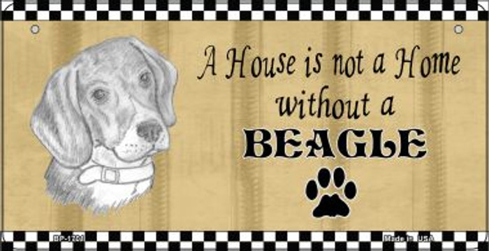 Beagle Pencil Sketch Wholesale Novelty Metal Bicycle Plate BP-1701