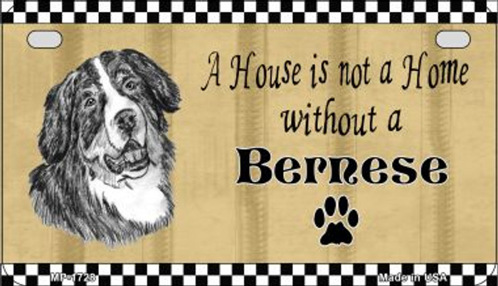 Bernese Pencil Sketch Wholesale Novelty Metal Motorcycle Plate MP-1728