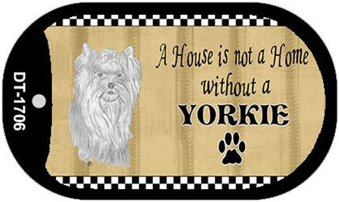 Yorkie Pencil Sketch Wholesale Novelty Metal Dog Tag Necklace DT-1706