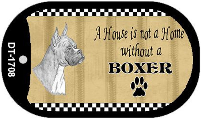 Boxer Pencil Sketch Wholesale Novelty Metal Dog Tag Necklace DT-1708