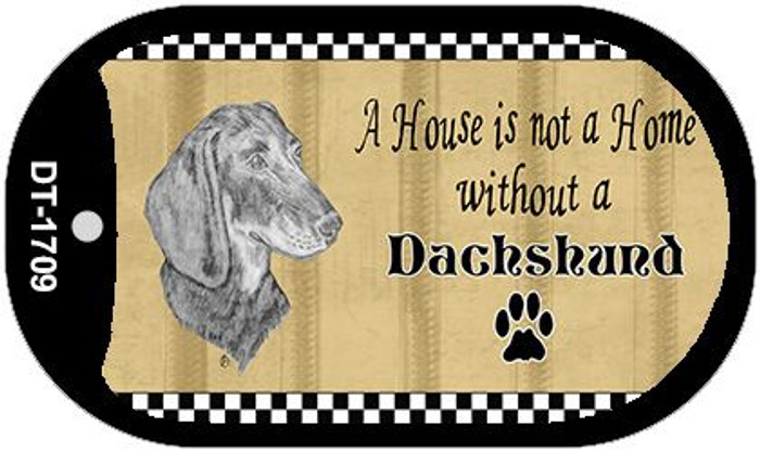 Dachshund Pencil Sketch Wholesale Novelty Metal Dog Tag Necklace DT-1709