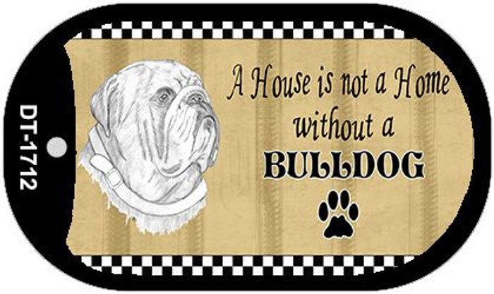 Bulldog Pencil Sketch Wholesale Novelty Metal Dog Tag Necklace DT-1712