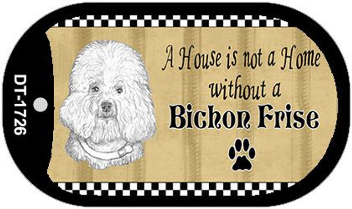 Bichon Frise Pencil Sketch Wholesale Novelty Metal Dog Tag Necklace DT-1726