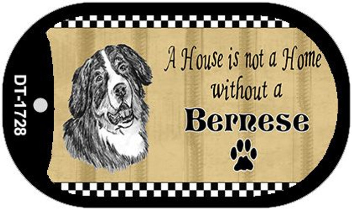 Bernese Pencil Sketch Wholesale Novelty Metal Dog Tag Necklace DT-1728