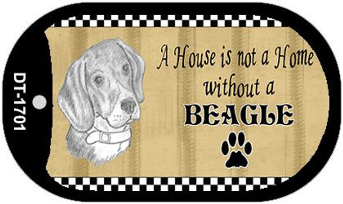 Beagle Pencil Sketch Wholesale Novelty Metal Dog Tag Necklace DT-1701