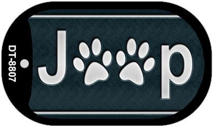 J**P Dog Paws Wholesale Novelty Metal Dog Tag Necklace DT-8807