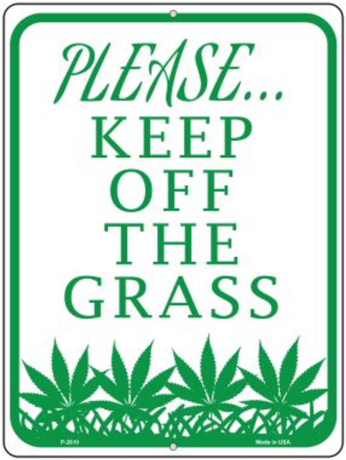 Please Keep Off Grass Wholesale Novelty Parking Sign P-2610