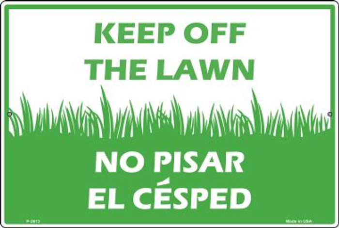 Keep Off The Lawn Wholesale Novelty Large Parking Sign LGP-2613