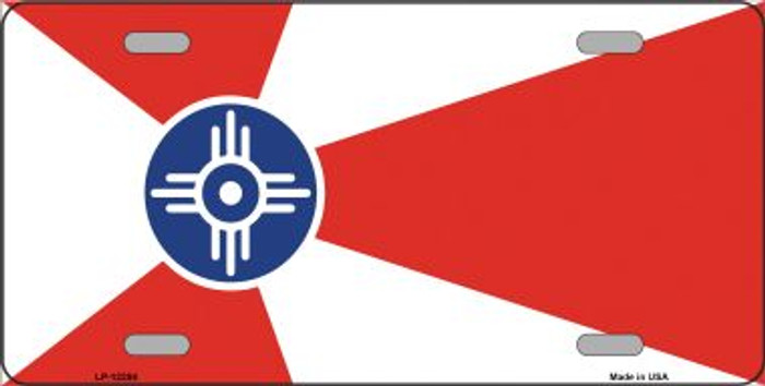 Wichita Flag Wholesale Novelty Metal License Plate LP-12284