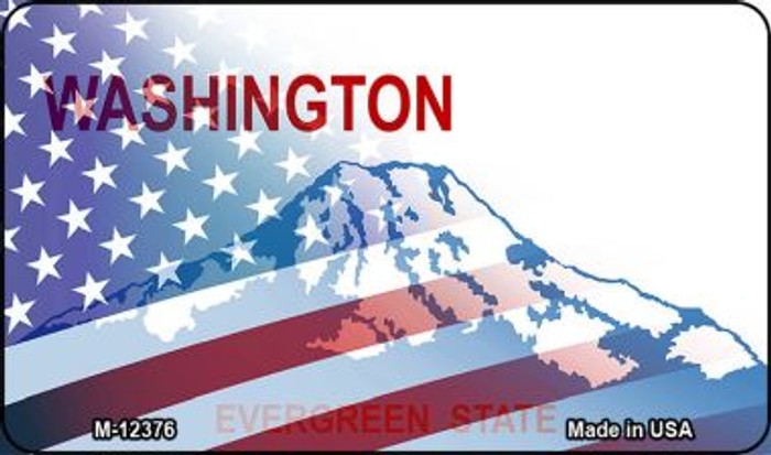 Washington with American Flag Wholesale Novelty Metal Magnet M-12376