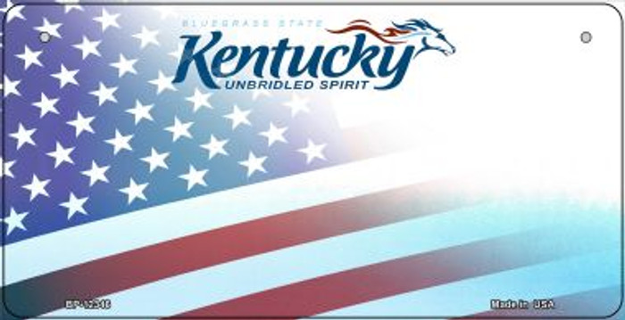 Kentucky with American Flag Wholesale Novelty Metal Bicycle Plate BP-12346