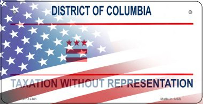 District of Columbia with American Flag Wholesale Novelty Metal Bicycle Plate BP-12481