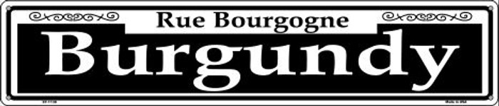 Burgundy Wholesale Novelty Metal Street Sign ST-1138