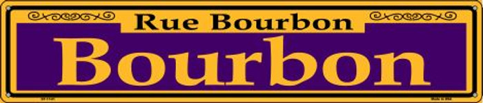 Bourbon Purple Wholesale Novelty Metal Street Sign ST-1141