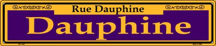 Dauphine Purple Wholesale Novelty Metal Street Sign ST-1148