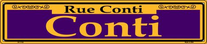 Conti Purple Wholesale Novelty Metal Street Sign ST-1155