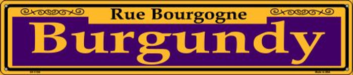 Burgundy Purple Wholesale Novelty Metal Street Sign ST-1159