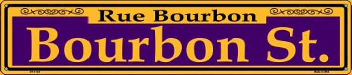 Bourbon St. Purple Wholesale Novelty Metal Street Sign ST-1162