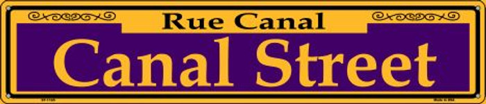 Canal Street Purple Wholesale Novelty Metal Street Sign ST-1165