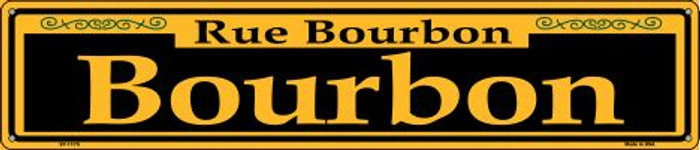 Bourbon Yellow Wholesale Novelty Metal Street Sign ST-1170