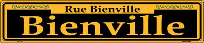 Bienville Yellow Wholesale Novelty Metal Street Sign ST-1173