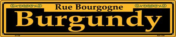 Burgundy Yellow Wholesale Novelty Metal Street Sign ST-1188