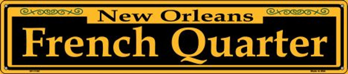 French Quarter Yellow Wholesale Novelty Metal Street Sign ST-1192
