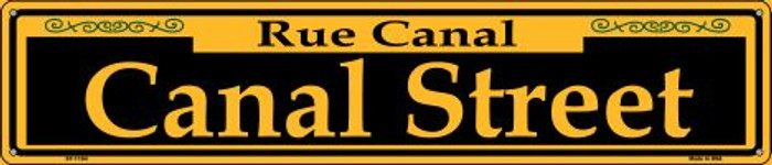 Canal Street Yellow Wholesale Novelty Metal Street Sign ST-1194