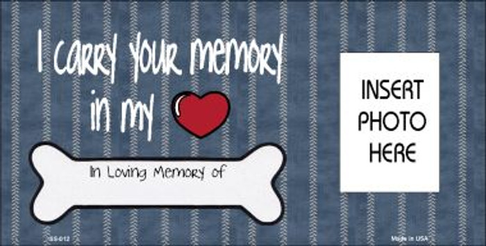 Your Memory Photo Insert Pocket Wholesale Metal Novelty Small Sign