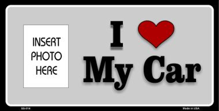 I Love My Car Photo Insert Pocket Wholesale Metal Novelty Small Sign