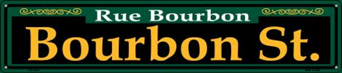Bourbon St. Green Wholesale Novelty Metal Street Sign ST-1220