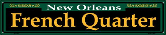 French Quarter Green Wholesale Novelty Metal Street Sign ST-1221