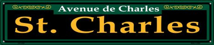 St. Charles Green Wholesale Novelty Metal Street Sign ST-1235