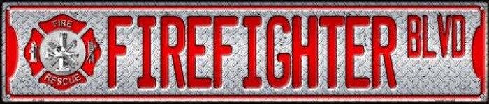 Fire Fighter Blvd Wholesale Novelty Metal Street Sign ST-1284