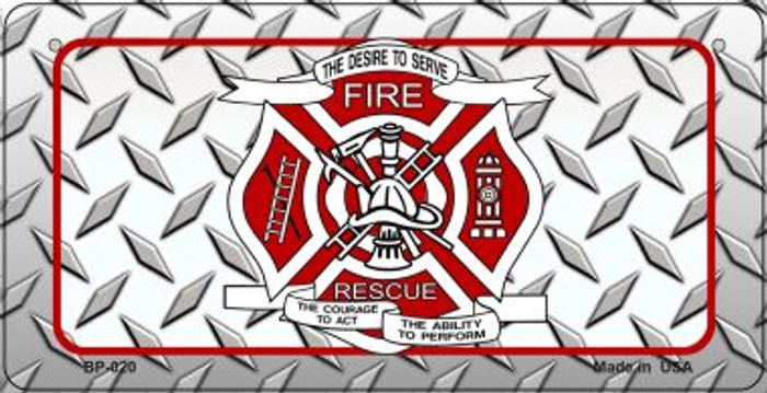 Fire Fighter Rescue Novelty Wholesale Novelty Metal Bicycle Plate BP-020