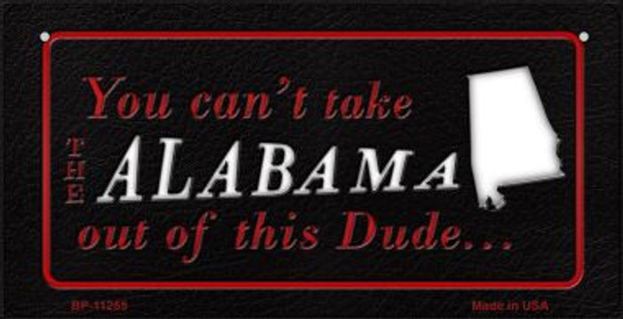 Alabama Dude  Wholesale Novelty Metal Bicycle Plate BP-11255