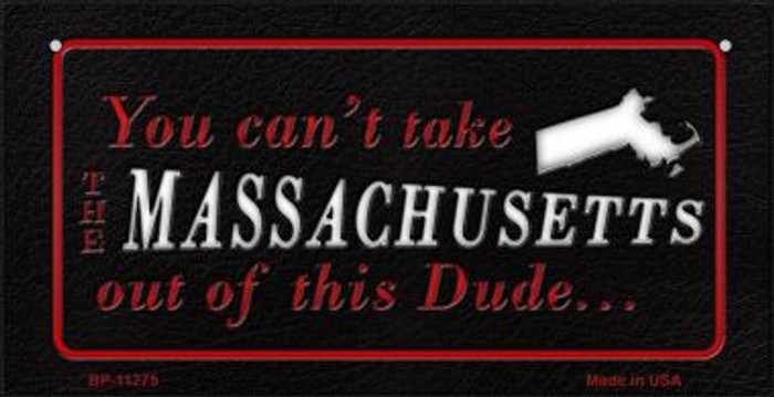 Massachusetts Dude Wholesale Novelty Metal Bicycle Plate BP-11275
