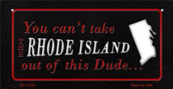 Rhode Island Dude Wholesale Novelty Metal Bicycle Plate BP-11293