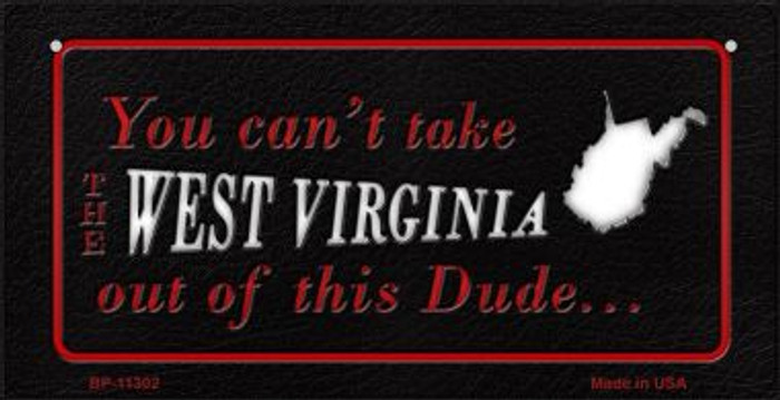 West Virginia Dude Wholesale Novelty Metal Bicycle Plate BP-11302