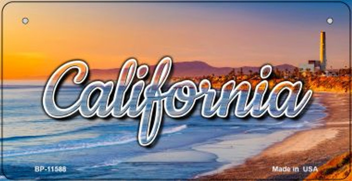 California Beach Wholesale Novelty Metal Bicycle Plate BP-11588