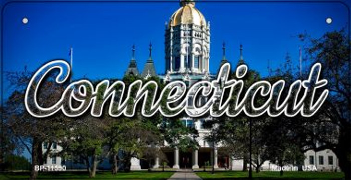 Connecticut Capital Building Wholesale Novelty Metal Bicycle Plate BP-11590