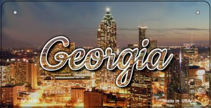 Georgia City Lights Wholesale Novelty Metal Bicycle Plate BP-11593