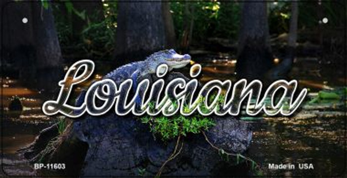 Louisiana Alligator Swamp Wholesale Novelty Metal Bicycle Plate BP-11603