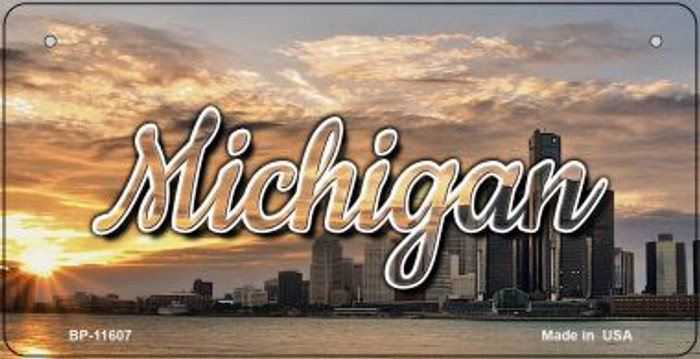 Michigan City Sunset Wholesale Novelty Metal Bicycle Plate BP-11607