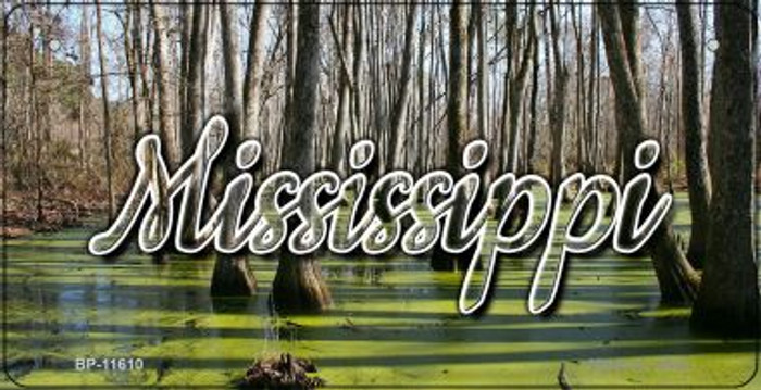 Mississippi Swamp Wholesale Novelty Metal Bicycle Plate BP-11610
