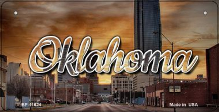Oklahoma Sunset Skyline Wholesale Novelty Metal Bicycle Plate BP-11624