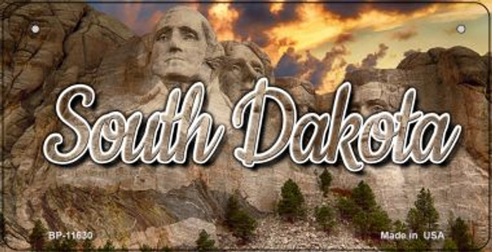 South Dakota Mt Rushmore Wholesale Novelty Metal Bicycle Plate BP-11630