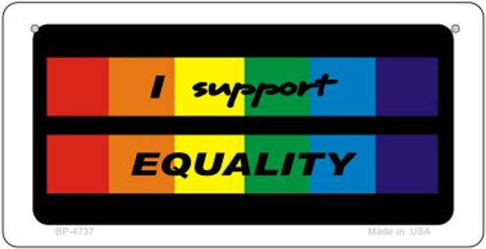 Equality Rainbow Wholesale Novelty Metal Bicycle Plate BP-4737
